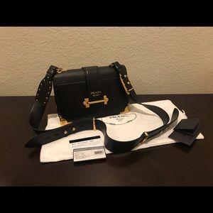Prada Cahier Large Shoulder / Crossbody bag